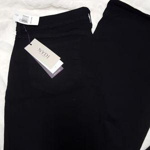 NYDJ Barbara Bootcut Black Jeans Sz 14 Long NWT